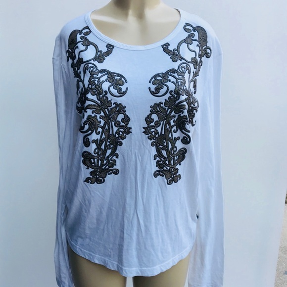 Free Shipping Original 2018 Newest Cheap Online Roberto Cavalli Embellished Long Sleeve Top 2I5xn